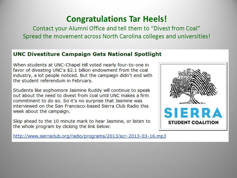 Congratulations Tar Heels.