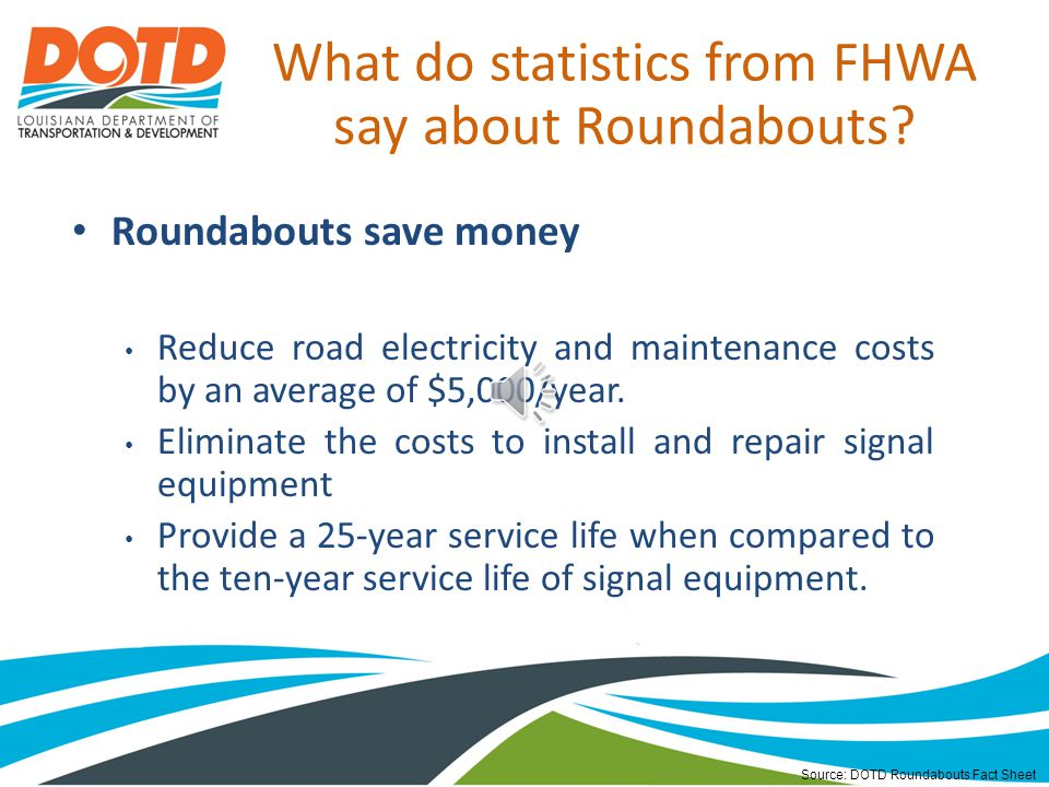 What do statistics from FHWA say about Roundabouts.