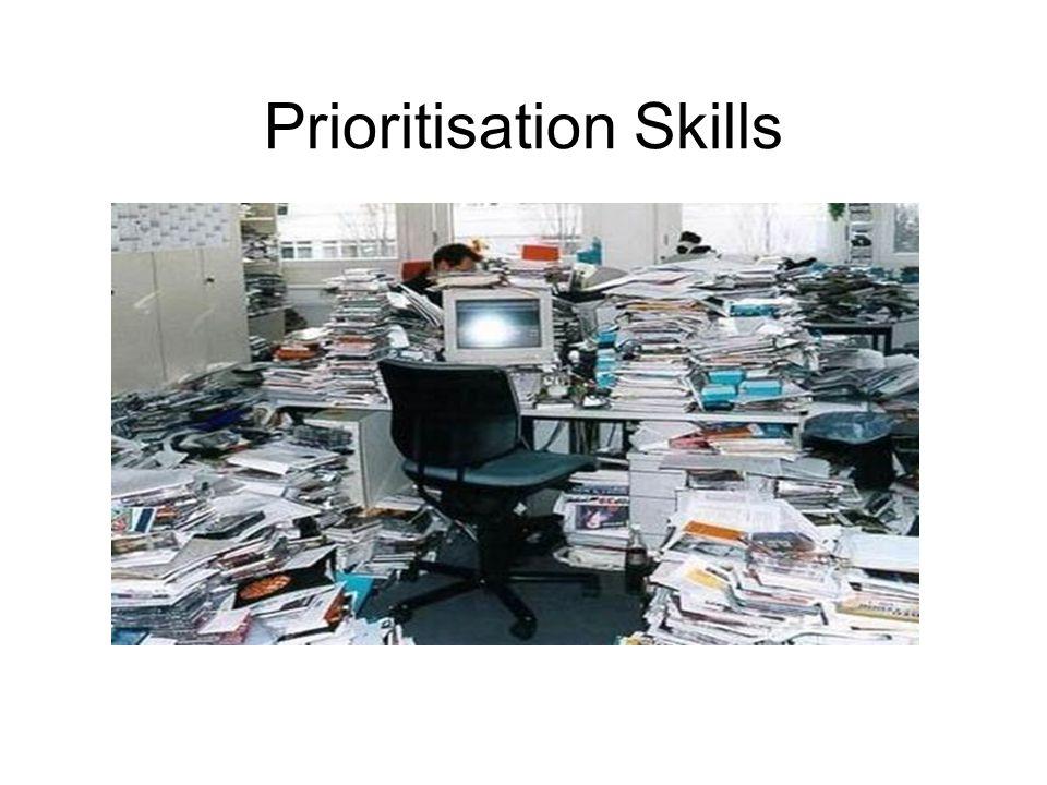 Prioritisation Skills