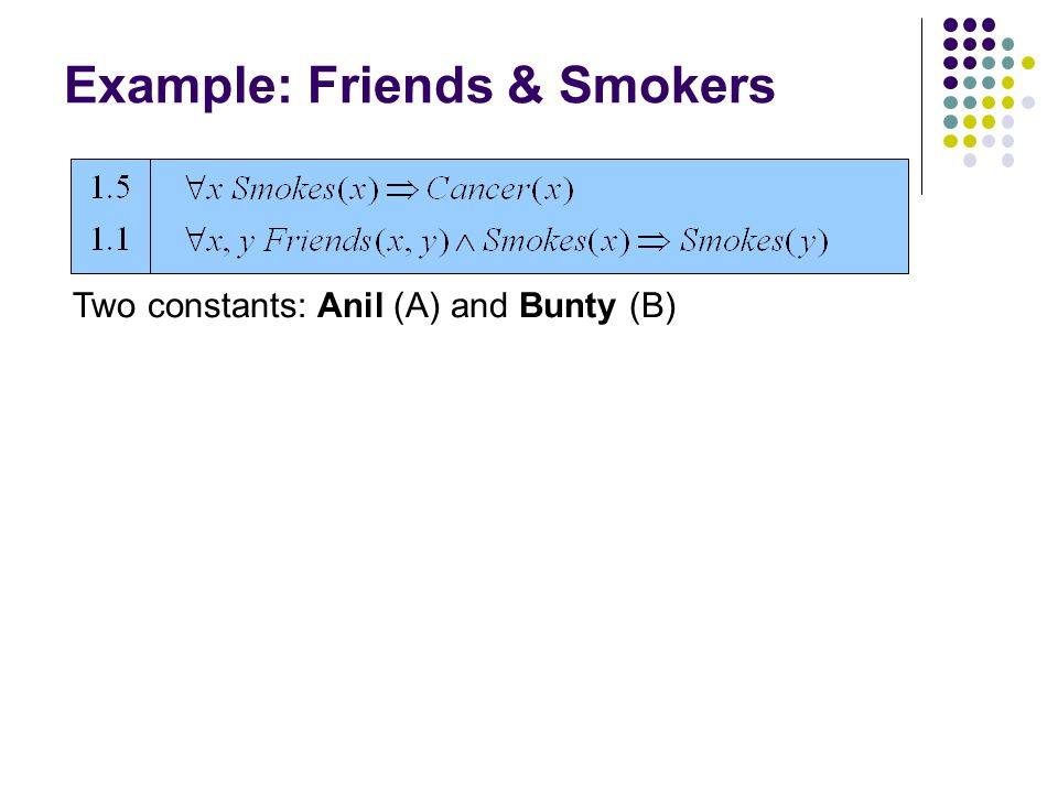 Two constants: Anil (A) and Bunty (B)