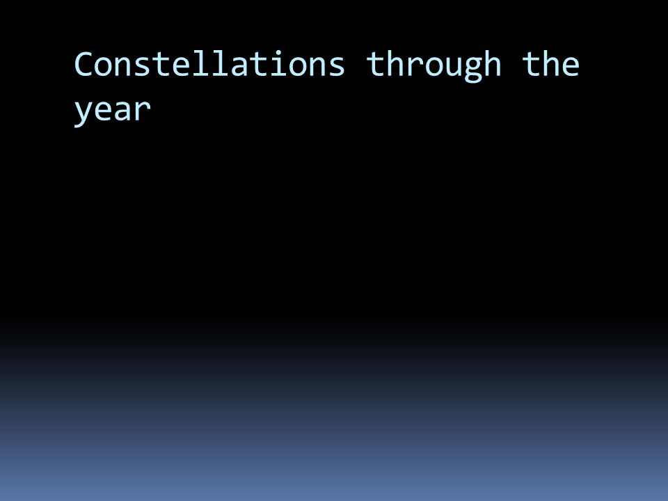 Constellations through the year