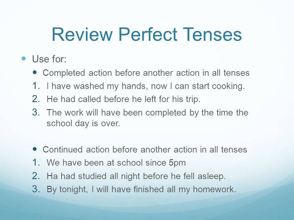 Present Perfect Signal Words Just Yet Never Already Ever So far Up to now Recently Since For
