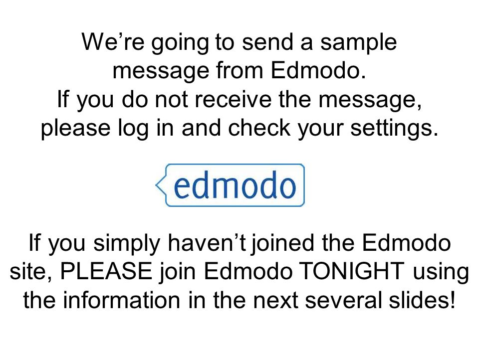 Edmodo Go to room D-9 When is are next meeting, and what is it about.