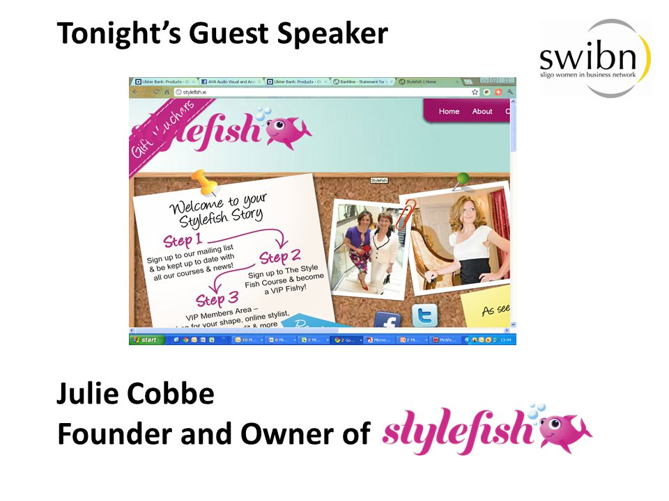 Tonight's Guest Speaker Julie Cobbe Founder and Owner of