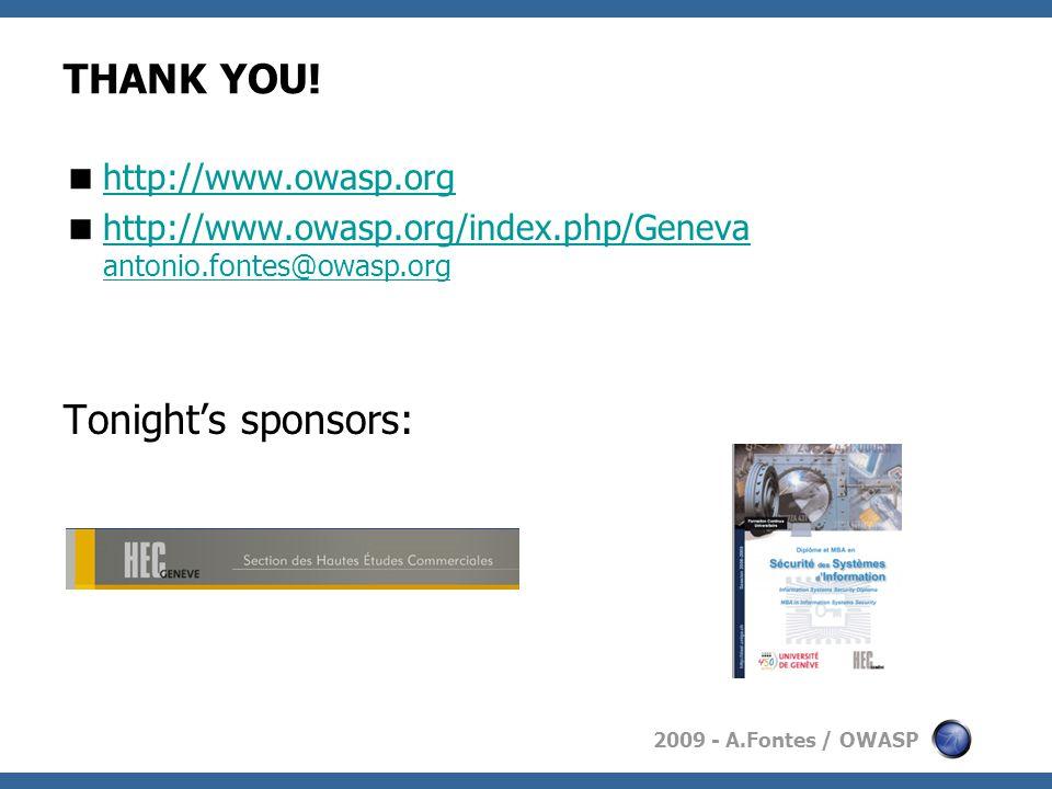 2009 - A.Fontes / OWASP THANK YOU.