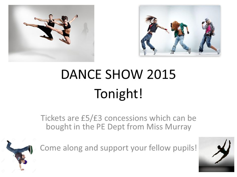 DANCE SHOW 2015 Tonight.