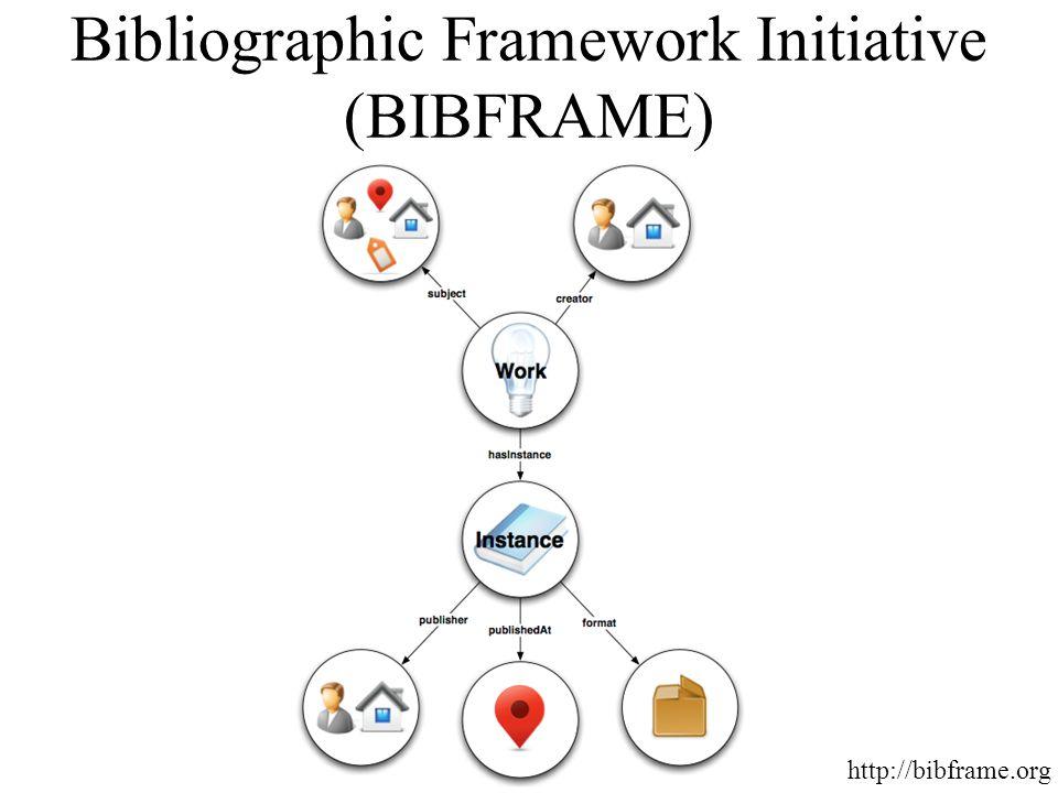 Bibliographic Framework Initiative (BIBFRAME) http://bibframe.org