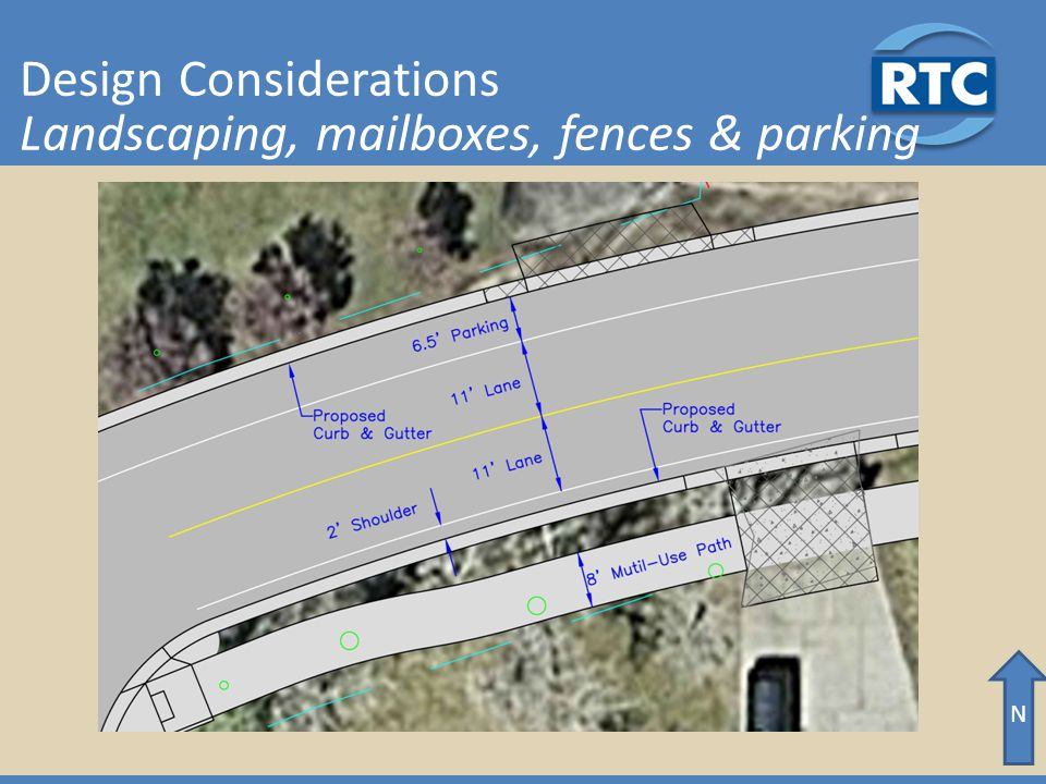 N Design Considerations Landscaping, mailboxes, fences & parking