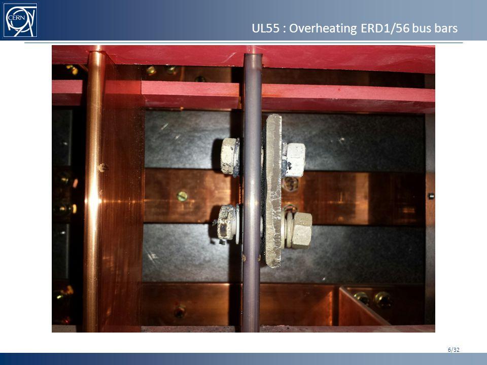 UL55 : Overheating ERD1/56 bus bars 7/32