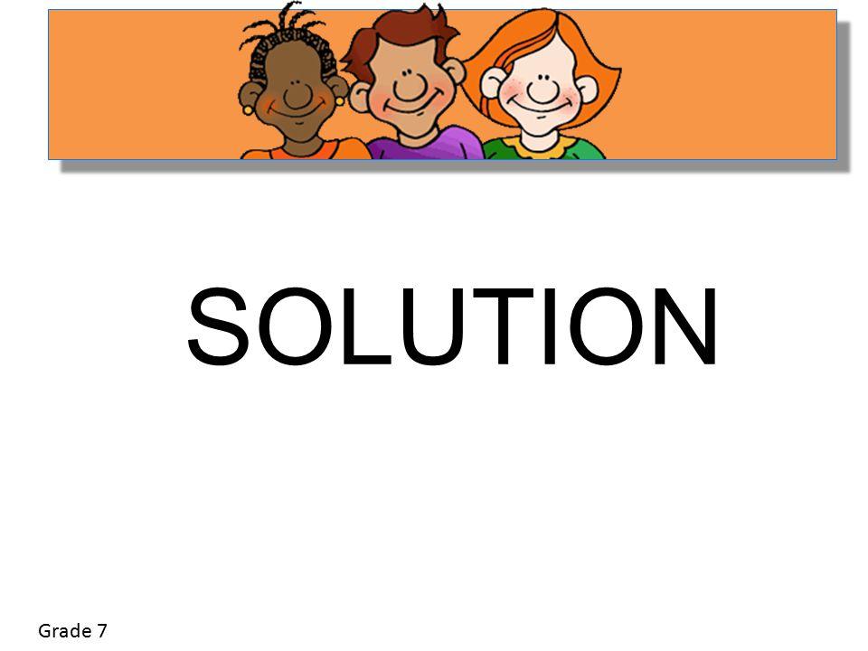 Grade 7 SOLUTION