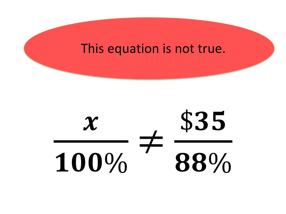 This equation is not true.