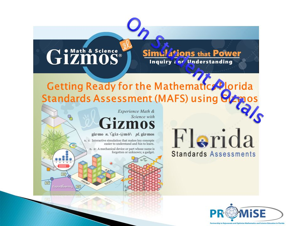 Getting Ready for the Mathematics Florida Standards Assessment (MAFS) using Gizmos