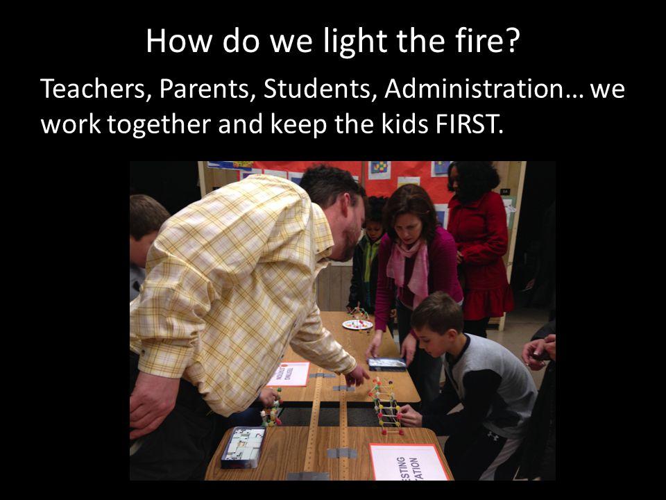 How do we light the fire.