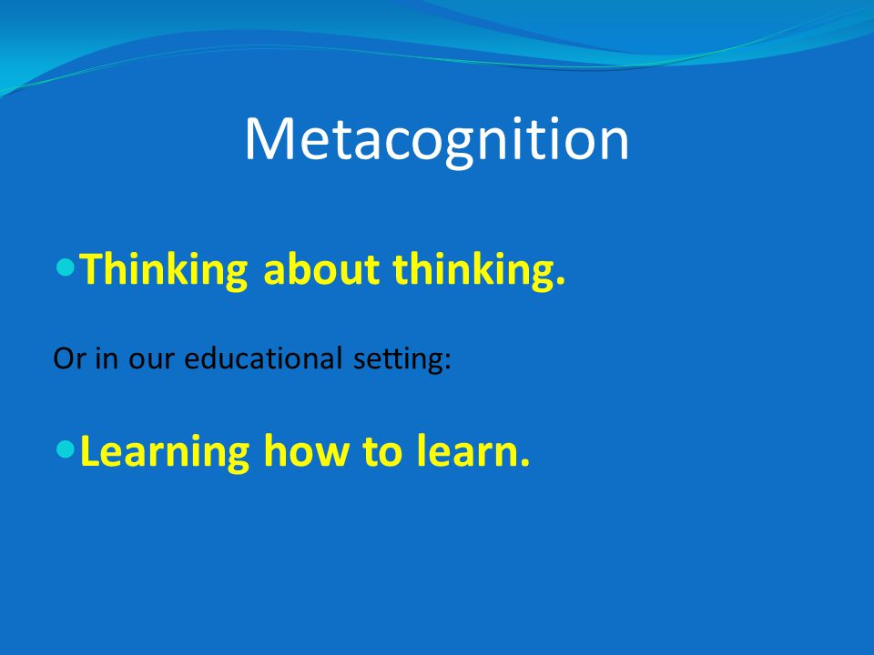 Spectacle of Poor Metacognition We can witness people exhibiting poor metacognition on television.