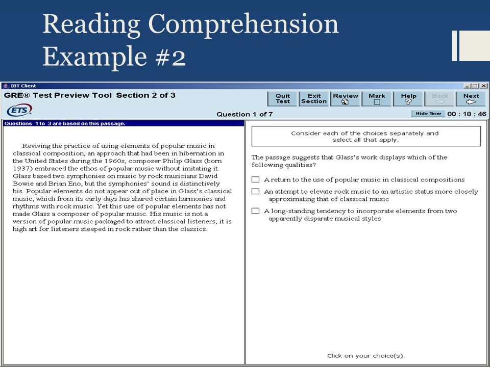 Reading Comprehension Example #2