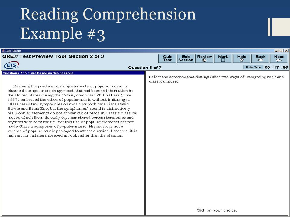 Reading Comprehension Example #3