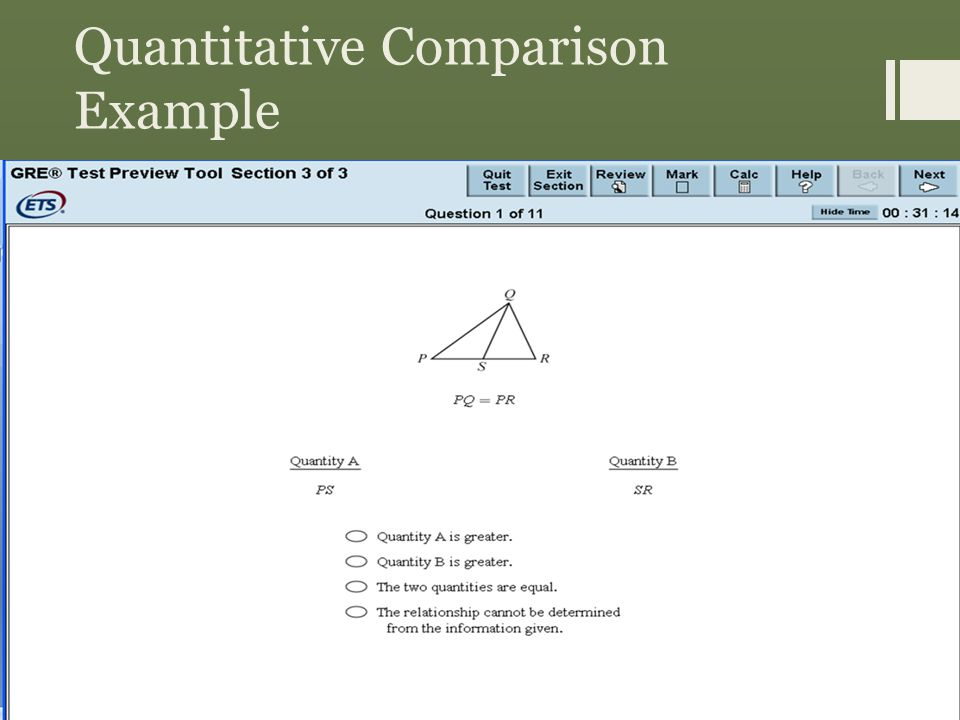 Quantitative Comparison Example