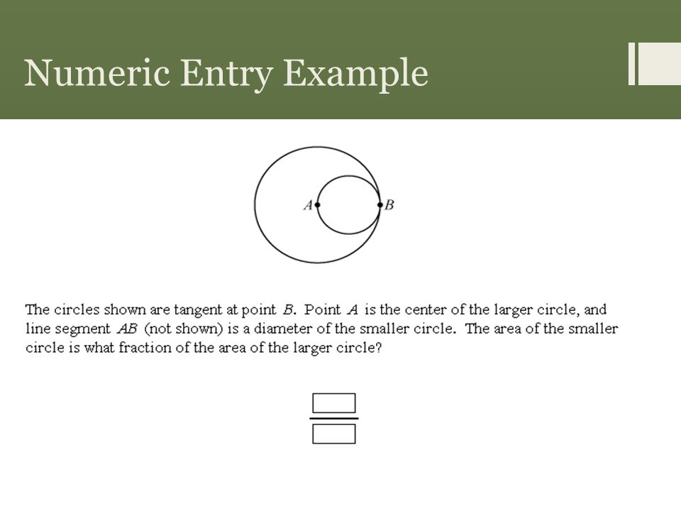 Numeric Entry Example