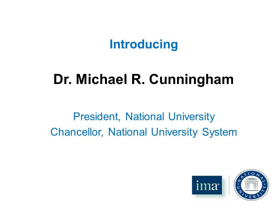 Introducing Dr. Michael R.