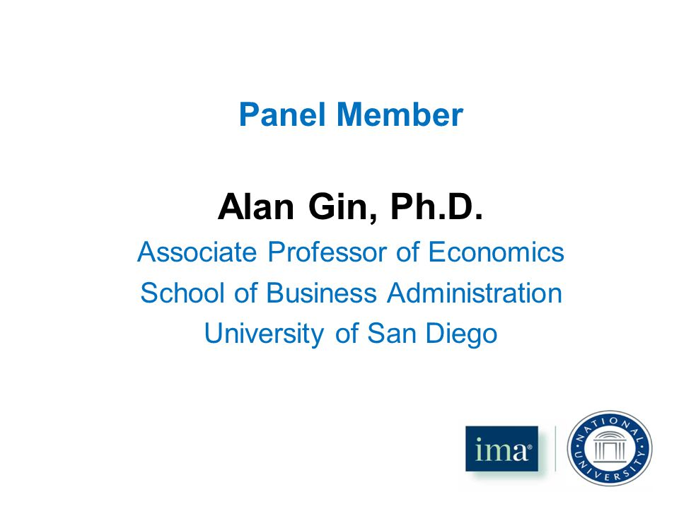 Panel Member Alan Gin, Ph.D.