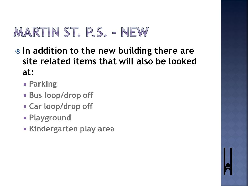  Remove the existing building. Build new school in the location of the original building.
