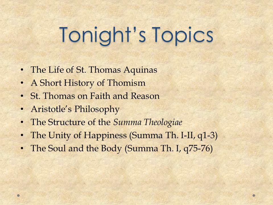 St.Thomas and Aristotle St. Thomas calls Aristotle The Philosopher .