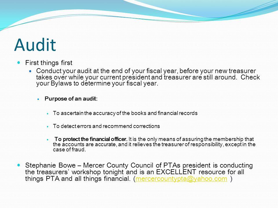 $ Money = Audit, Budget, Fundraising