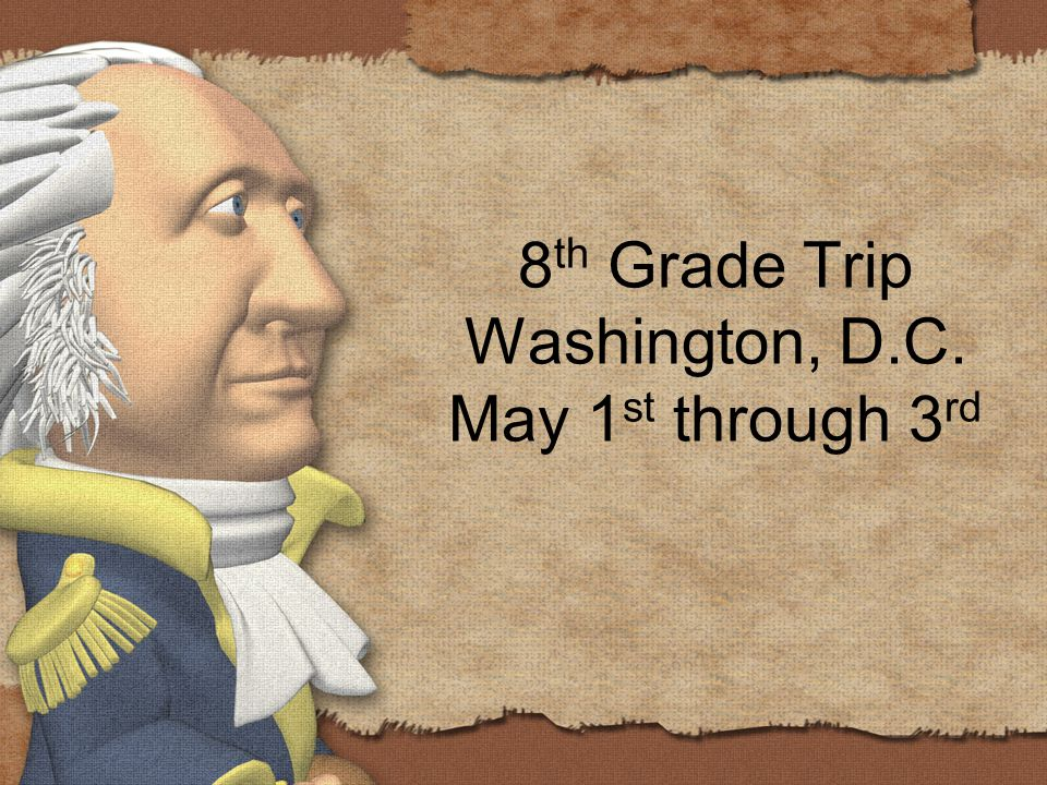 8 th Grade Trip Washington, D.C. May 1 st through 3 rd