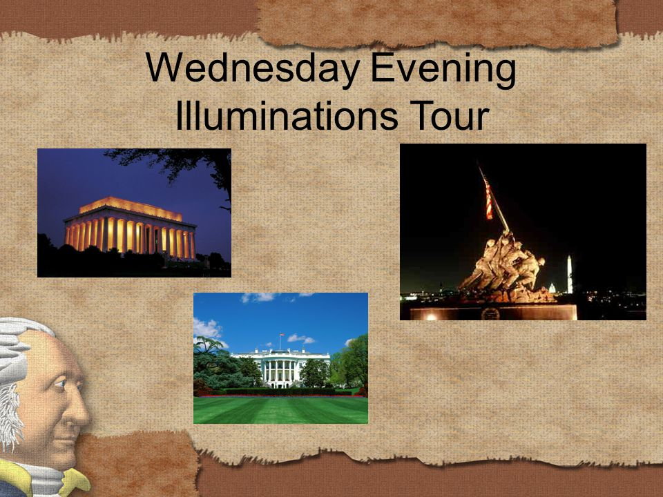 Wednesday Evening Illuminations Tour