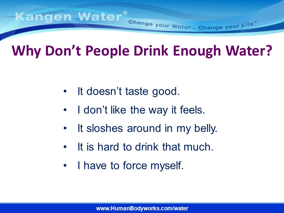 www.HumanBodyworks.com/water We Are Water Beings.