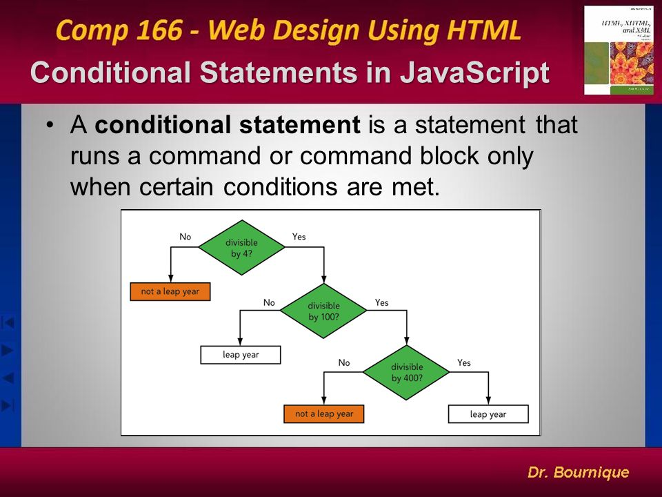 Conditional Statements in JavaScript 2 A conditional statement is a statement that runs a command or command block only when certain conditions are met.