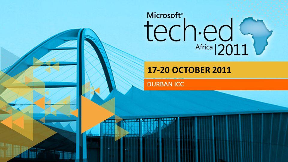 17-20 OCTOBER 2011 DURBAN ICC