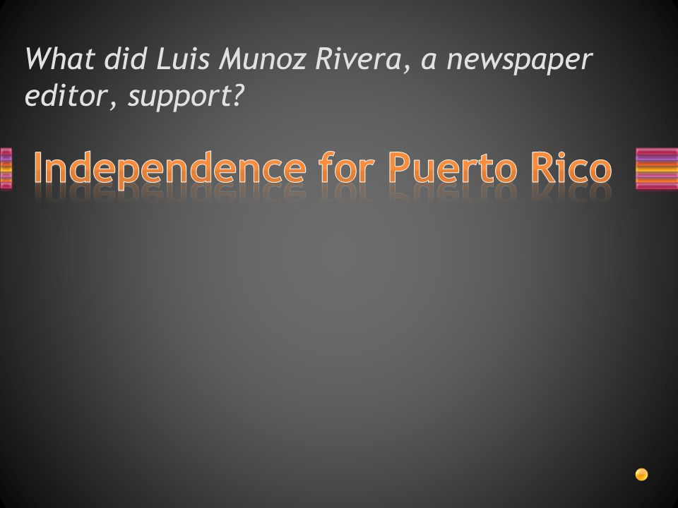 What did Luis Munoz Rivera, a newspaper editor, support?