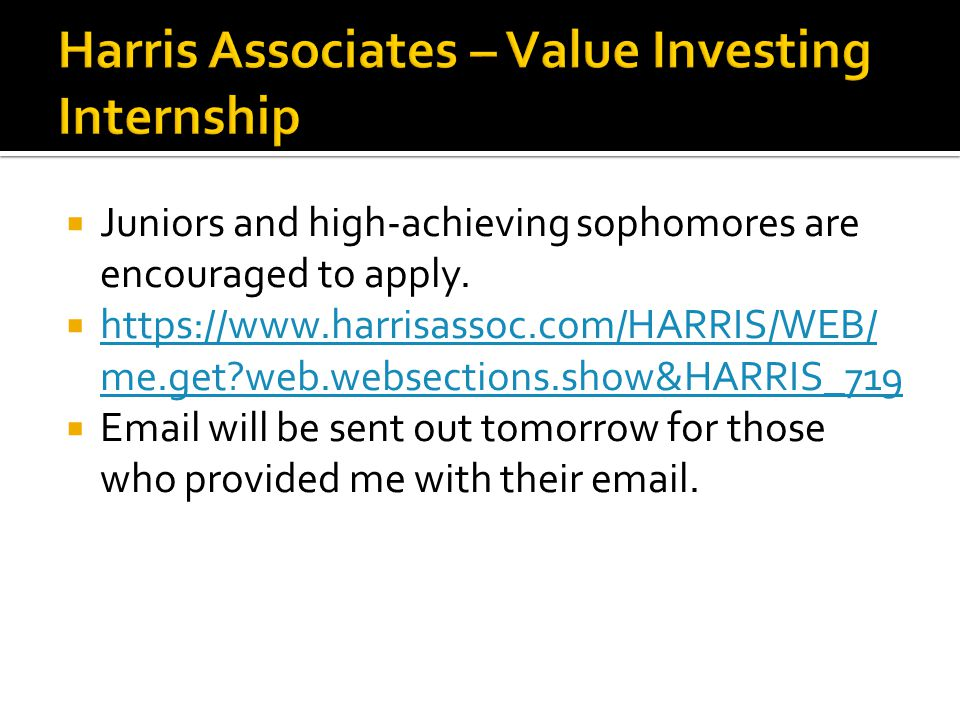  Juniors and high-achieving sophomores are encouraged to apply.