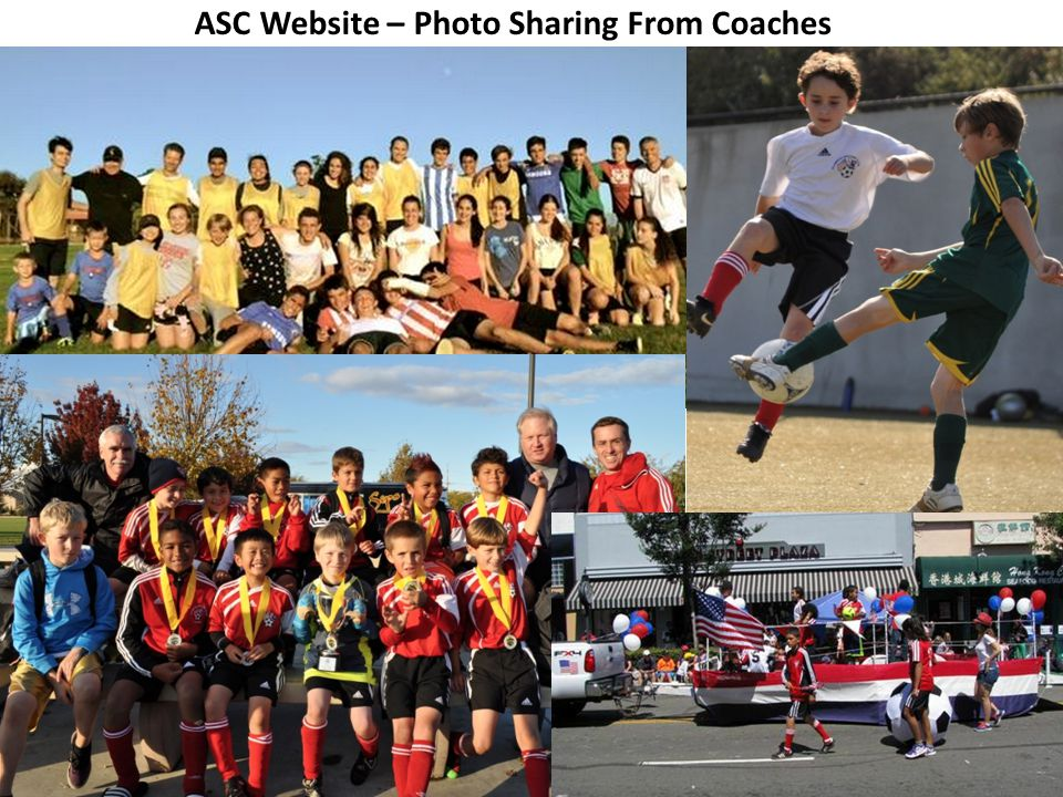ASC Website – Photo Sharing From Coaches