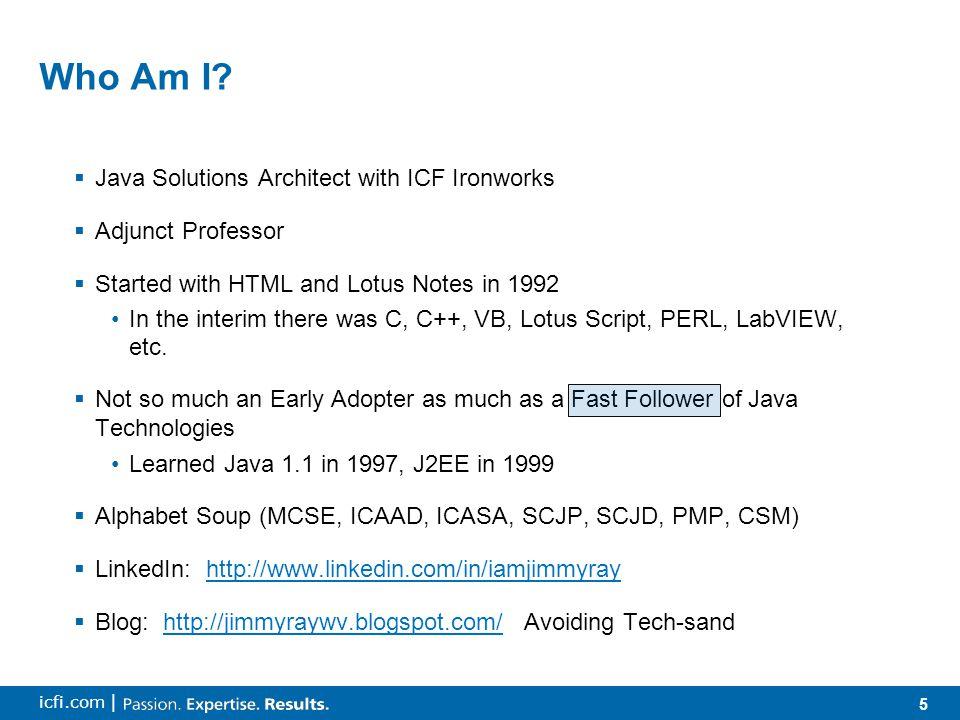 5 icfi.com | Who Am I.