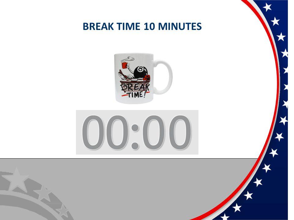 BREAK TIME 10 MINUTES