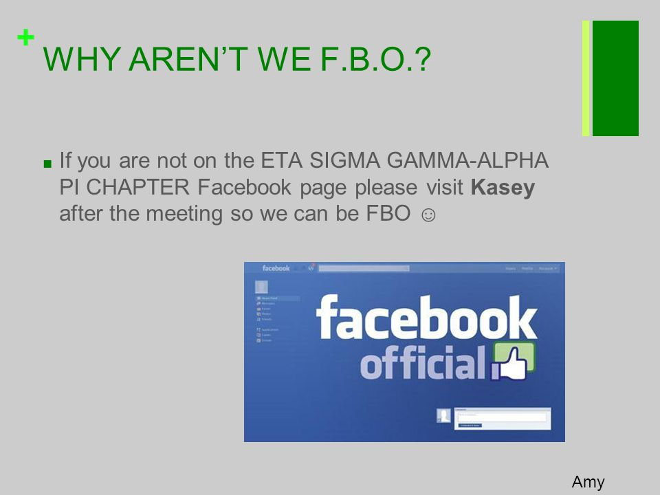 + WHY AREN'T WE F.B.O..