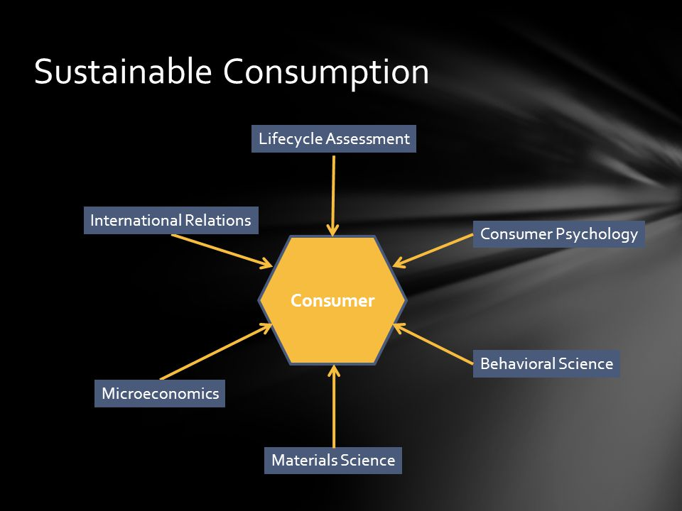 Sustainable Consumption Consumer Consumer Psychology Behavioral Science Materials Science Microeconomics International Relations Lifecycle Assessment