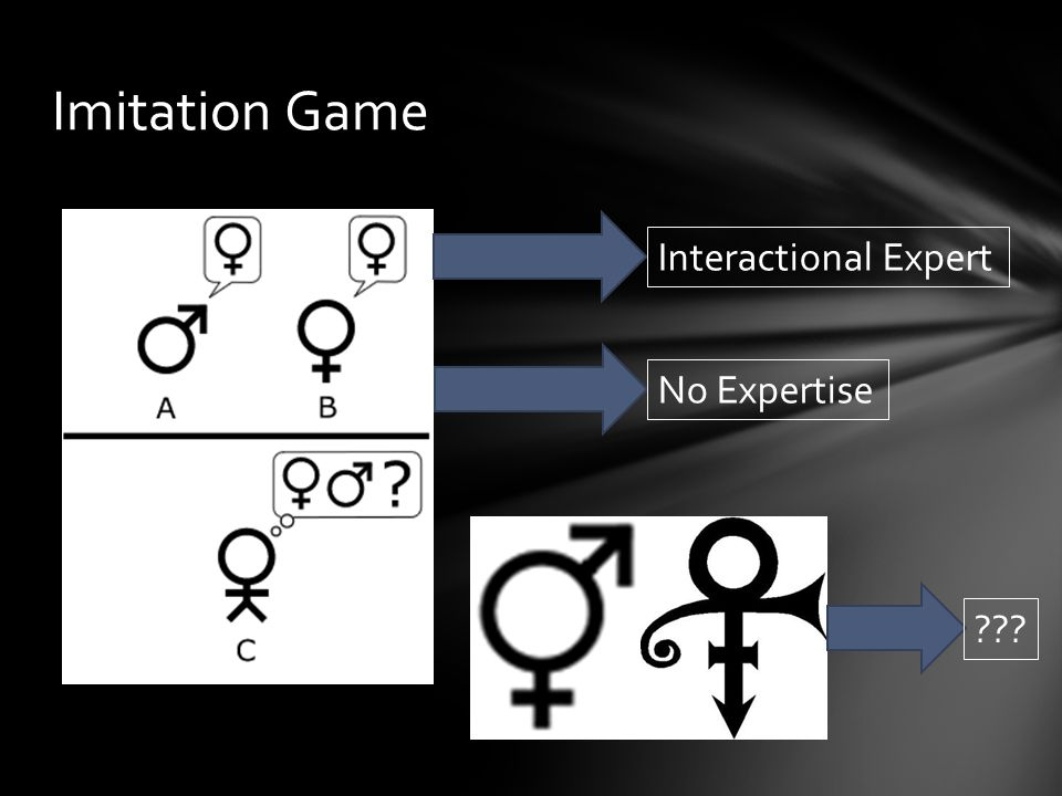 Imitation Game Interactional Expert No Expertise