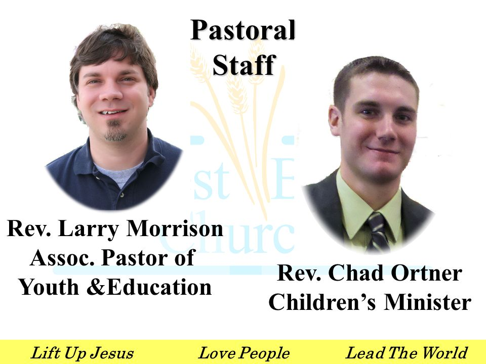 Lift Up JesusLove PeopleLead The World O & W Teams Monday Sept. 24 th 6:30pm in the AC
