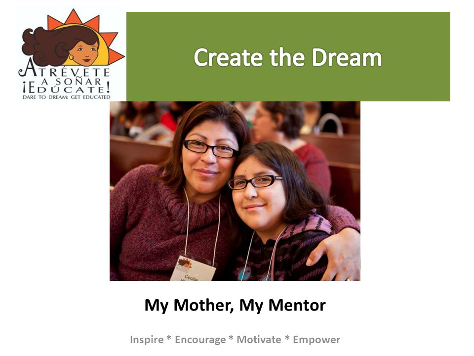 My Mother, My Mentor Inspire * Encourage * Motivate * Empower