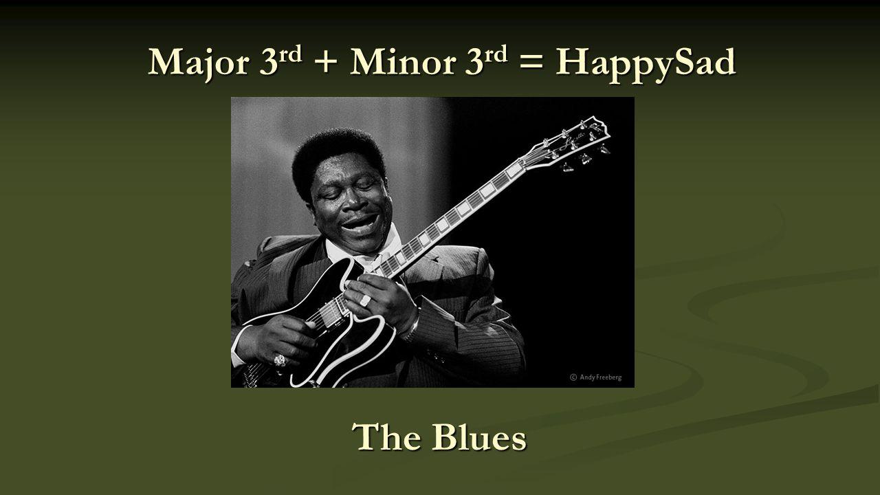 Major 3 rd + Minor 3 rd = HappySad The Blues