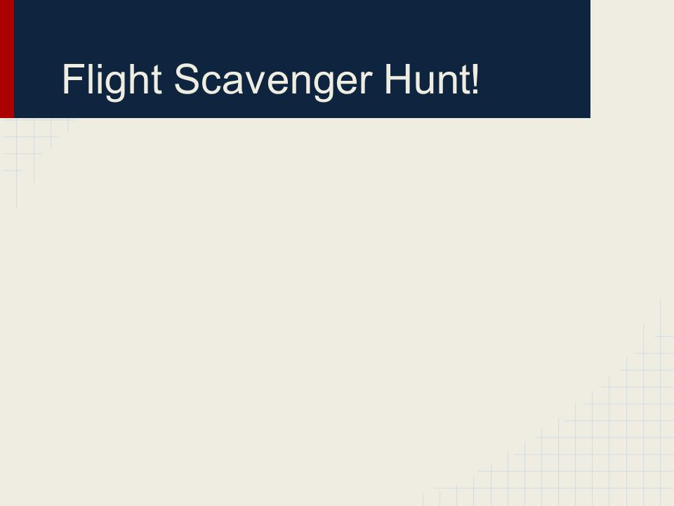 Flight Scavenger Hunt!