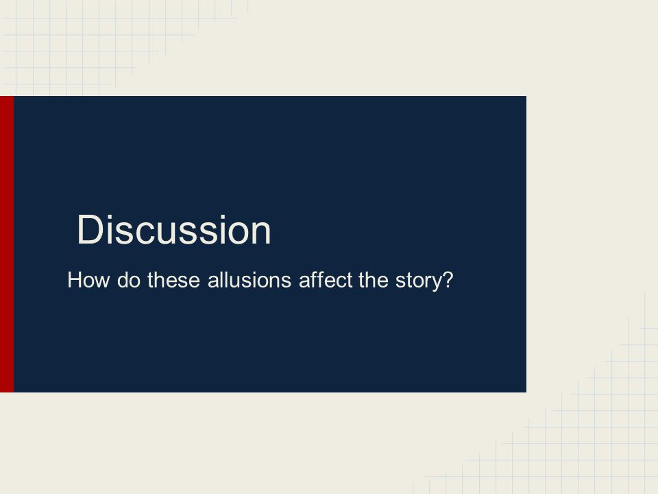 Discuss the characterization. What direct and indirect characterization have we seen so far?