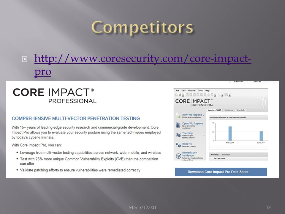  http://www.coresecurity.com/core-impact- pro http://www.coresecurity.com/core-impact- pro MIS 5212.00118
