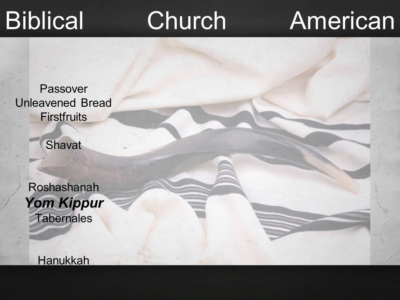 Biblical Church American Passover Unleavened Bread Firstfruits Shavat Roshashanah Yom Kippur Tabernales Hanukkah