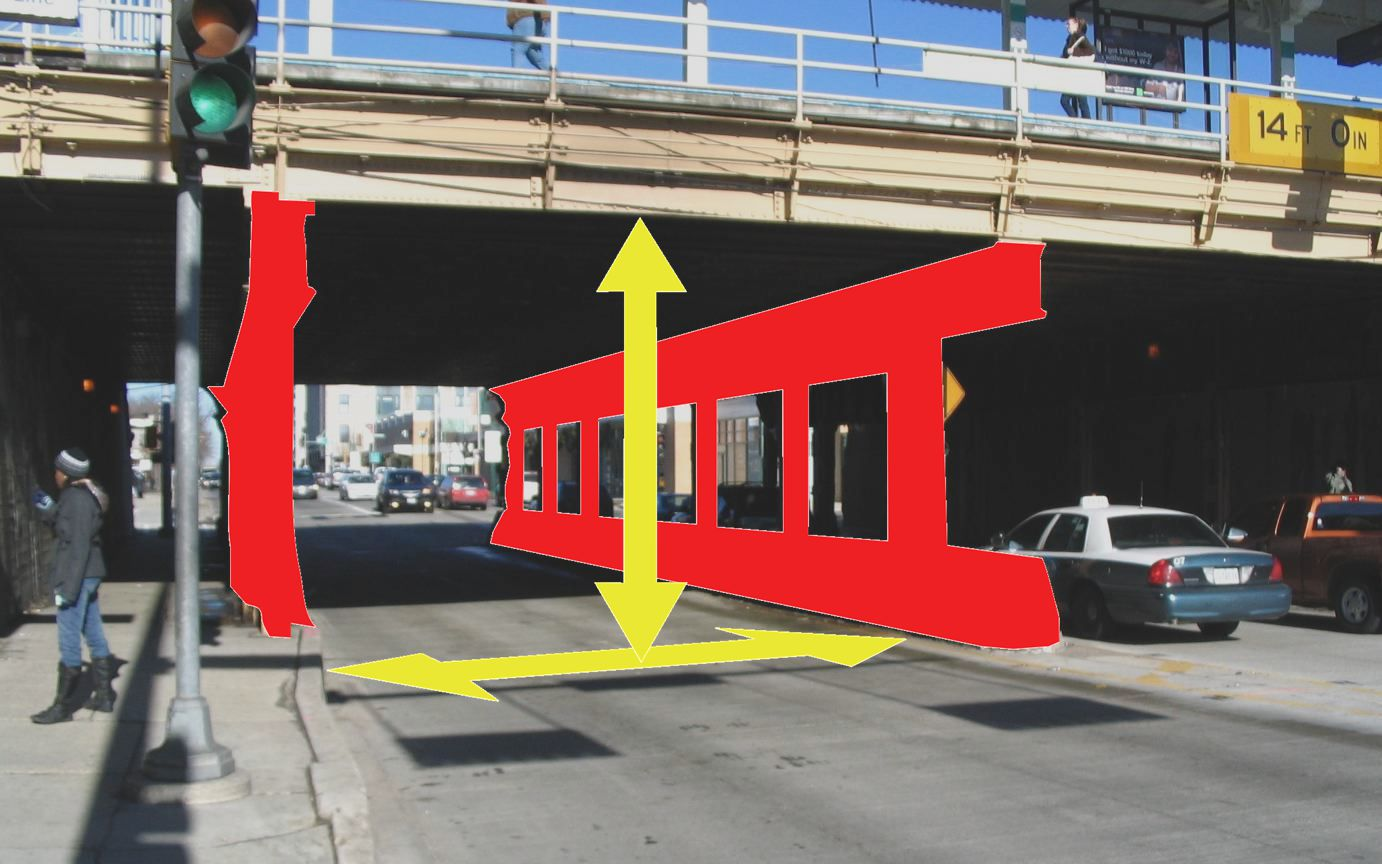 these factors may influence the frequency of traffic accidents in the vicinity of the underpass