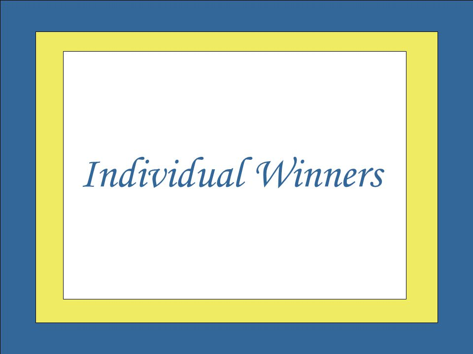 Welcome to the Governor's Outstanding Volunteer Awards Individual Winners
