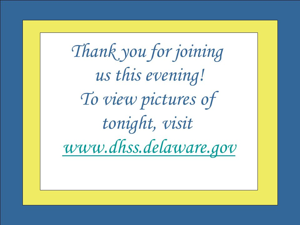 Welcome to the Governor's Outstanding Volunteer Awards Thank you for joining us this evening.